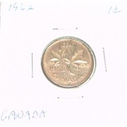 1962 CANADIAN 1 CENT PENNY *RARE PROOF HIGH GRADE*!! COIN IS ABOUT THE SIZE OF A MORGAN DOLLAR!!