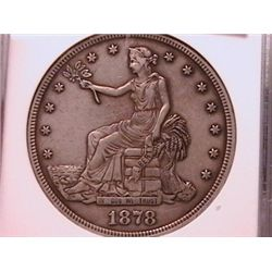 SCARCE COIN 1878-CC Trade Dollar AU Details Anacs.Rarely come up for sale