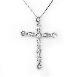 Natural 0.45 ctw Diamond Necklace 10K White Gold