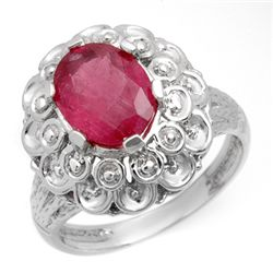 Genuine 2.25 ctw Ruby Ladies Ring 10K White Gold