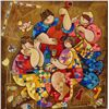 Dorit Levi, Festive Feast, Signed SS on Wood