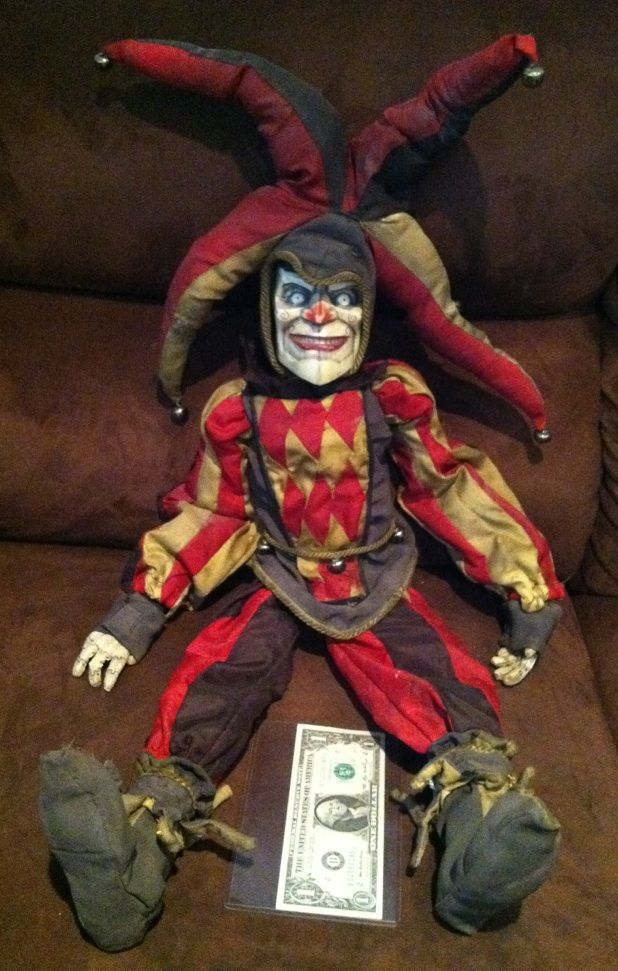 the hole screen used amp matched hero evil jester clown doll