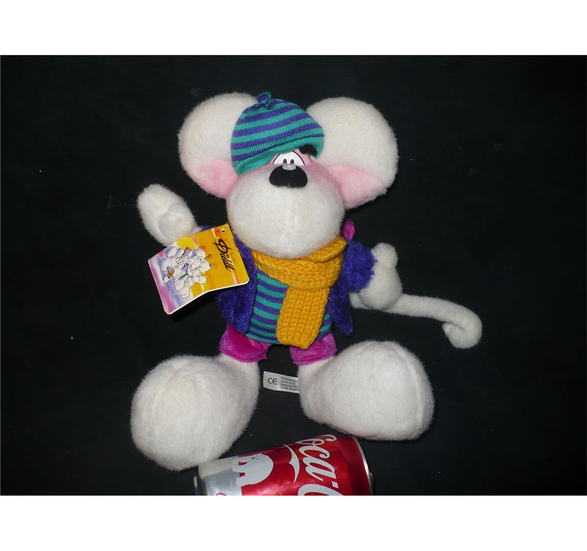 Image 1   DIDDL MOUSE STUFFED ANIMAL BY THOMAS GOLETZ WITH WINTER OUTFIT  AND TAG ... bbe67edf0
