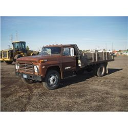 1969 Ford F600 S/A Flat Bed Dump Truck