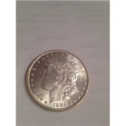 1884 BU MS-63 MORGAN SILVER DOLLAR