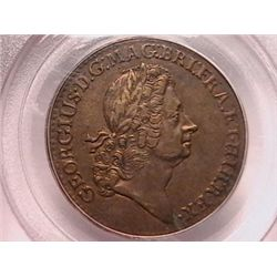 1723 Rosa Americana Two Pence AU50 PCGS. Historic Coin