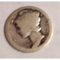 1916-D MERCURY DIME KEY DATE ONLY 264,000 MINTED