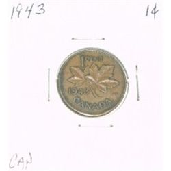 1943 CANADA 1 CENT PENNY *RARE NICE CANADIAN PENNY*!!