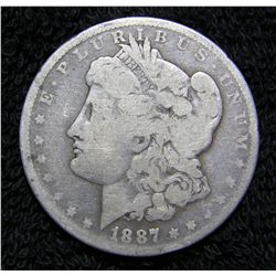 1887 Morgan Dollar