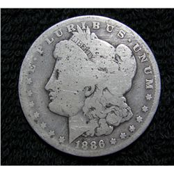 1886 O Morgan Dollar