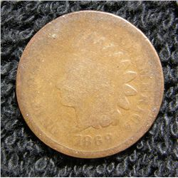 1869/9 Indian Head Cent Rare
