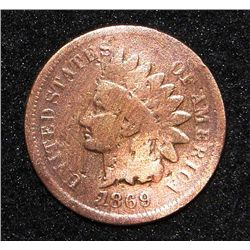 1869 Indian Head Cent Rare