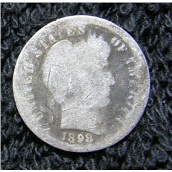 1898 S Barber Dime Better Date