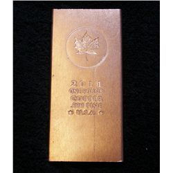 2011 Canadian Maple Leaf 1 Pound .999 Copper Bar