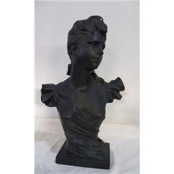 "Large Bust Chalk of Women approx 14"" x H 23""  has some small miner chips"