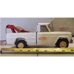 "Tonka Tow Truck Metal White approx. 9"" x 3.5 x H 4"""