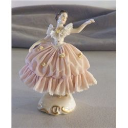 "Porcelain Ballerina Figurine Marked Germany approx 4"" x H"" no chips or cracks"