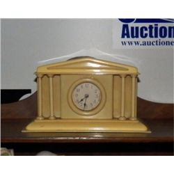 "1930's  Bakelite Alarm Clock made Like Court House approx 8"" x 4 x H 8"" Made in Germany and works gr"