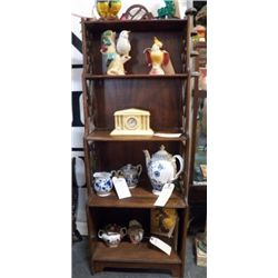 5 Tier Vintage Wood Shelf approx 18  x H 54  condition is good