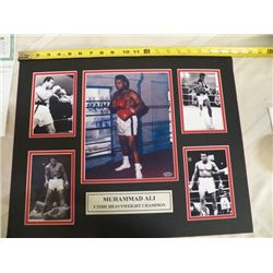 "Muhammad Ali Autographed Mat With Certificate of Authenticity 20"" x 16"""
