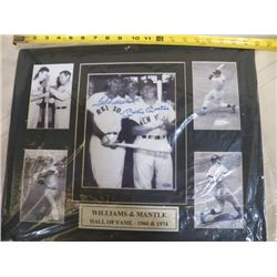 "Williams & Mantel Autographed Mat With Certificate of Authenticity 20"" x 16"""