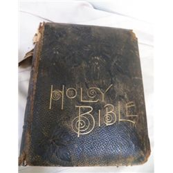 "Holy Bible from 1884 approx 10"" x 13"" x 4.5"""
