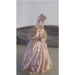 "Hand Painted Porcelain Figurine Lefton China approx. 5"" x 8"" marked K8574-F"