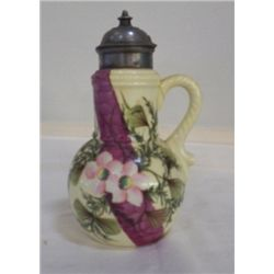 """Porcelain Pitcher Marked ES in Circle 3804 approx 6"""" x H 9"""""""
