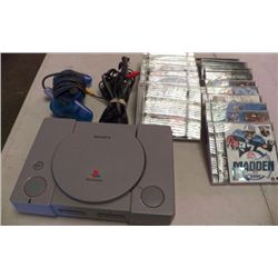 Playstation With Cords Cleaned & Tested (21) Games works good