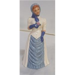 """Lady in Blue Figurine West Coast Pottery approx 4"""" x  H 8"""" Original design by Thelma Kym"""