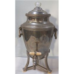 Electric Victorian Style Coffee Urn Bakealite Handle & foot Plate,  very nice and complete no cord