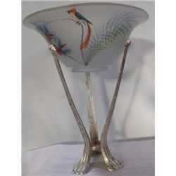 Hand Painted Parrot on Pedestal