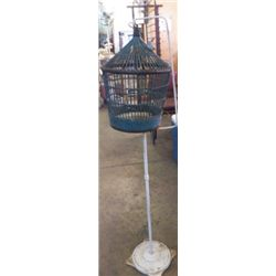 "Birdcage With Stand Yard Art 14""x53""approx."
