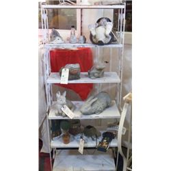 """white metal bakers rack 24"""" wide 12"""" deep and 58"""" tall white bakers rack"""