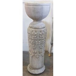 """very heavy cement planter comes in 3 pieces 15""""x47"""" very heavy comes in 3 pieces"""