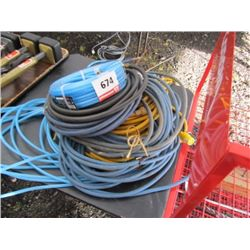 Assorted Hoses & Electric Cords