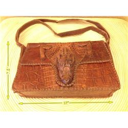 Vintage Alligator Purse With Actual Alligator Body