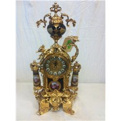 Porcelain and Brass Clock