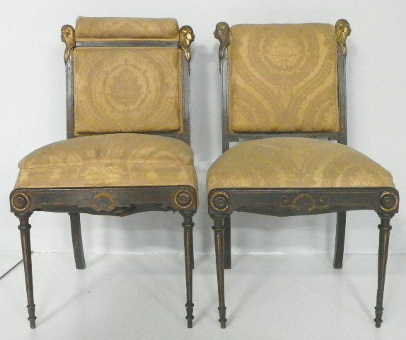 Image 1 : Pair American Egyptian Revival Chairs ...