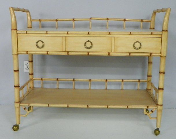 ... Image 2 : Faux Bamboo Server/bar Labeled Thomasville ...