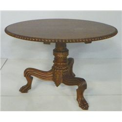 Magnificent 19th c. round rosewood center table