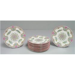 Set of 12 Coalport dishes sold by Tiffany & Co.