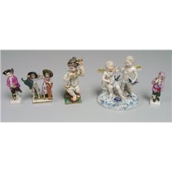 Group of 5 porcelain figures