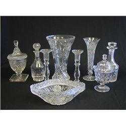 Group lot of 9 pieces cutglass