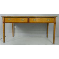 "Inlaid satinwood desk with ""Floral"" inlay"