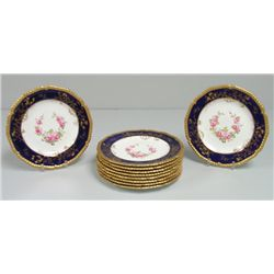 Set of 10 Royal Crown Derby dishes