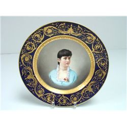 "Vienna portrait plate ""Girl in Blue Dress"""
