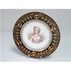 Sevres hand painted portrait plate