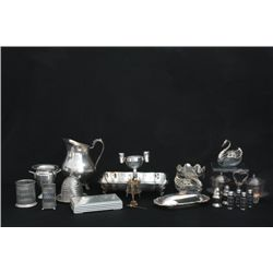 Group lot of approx. 15 pieces silverplate