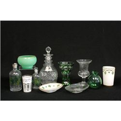 Group lot of glass